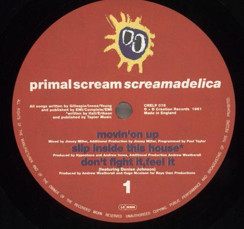 Primal Scream Screamadelica 2-LP vinyl record set (Double Album) UK PML2LSC519465