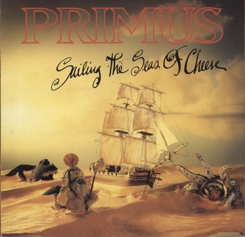 Primus Sailing The Seas Of Cheese - Promo Stickered + PR vinyl LP album (LP record) German PI5LPSA553500