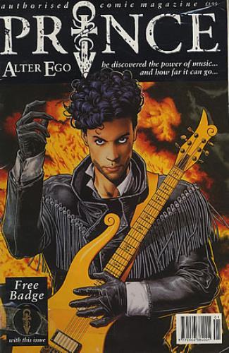 Prince Alter Ego - Comic + badge magazine UK PRIMAAL21839
