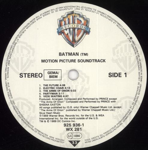 Prince Batman - Stickered Sleeve + Picture Insert vinyl LP album (LP record) UK PRILPBA733947
