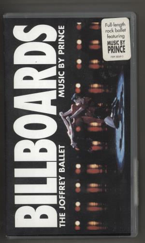 Prince Billboards video (VHS or PAL or NTSC) UK PRIVIBI734261