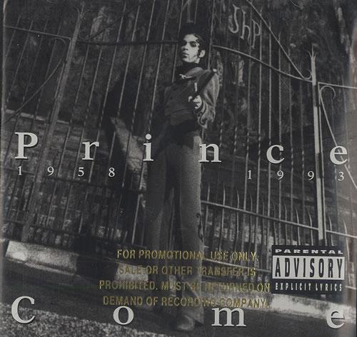 Prince Come - Gold promo stamped CD album (CDLP) US PRICDCO492917