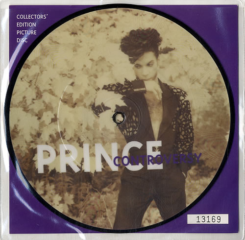 """Prince Controversy 7"""" vinyl picture disc 7 inch picture disc single UK PRI7PCO23782"""