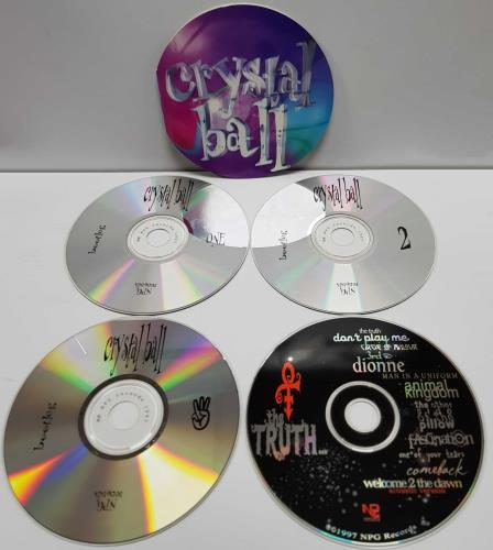 Prince Crystal Ball - 4-CD 4-CD album set US PRI4CCR109571