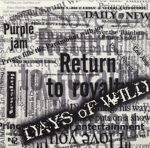 "Prince Days Of Wild 12"" vinyl single (12 inch record / Maxi-single) Canadian PRI12DA456643"