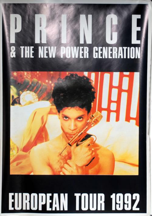 Prince European Tour 1992 poster UK PRIPOEU09718