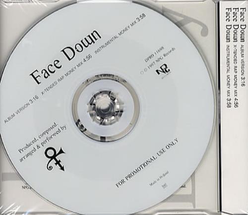 "Prince Face Down CD single (CD5 / 5"") Dutch PRIC5FA91783"