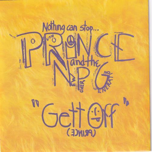 """Prince Gett Off 7"""" vinyl single (7 inch record) UK PRI07GE46274"""