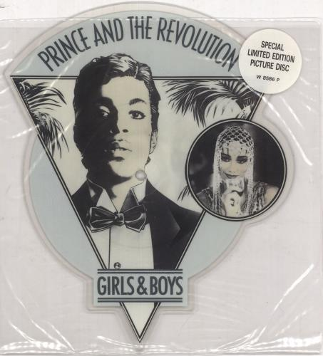 Prince Girls & Boys shaped picture disc (picture disc vinyl record) UK PRISHGI03329