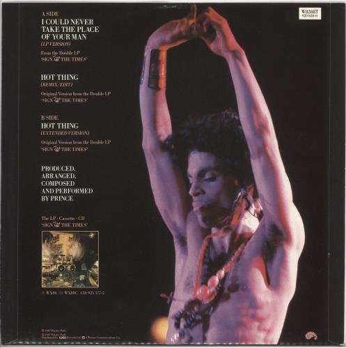 """Prince I Could Never Take The Place Of Your Man 12"""" vinyl single (12 inch record / Maxi-single) UK PRI12IC731198"""