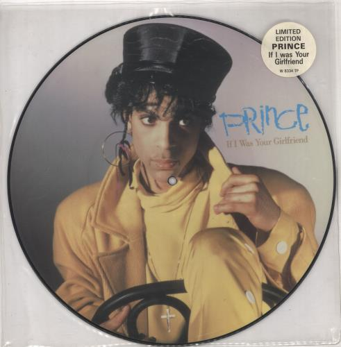 """Prince If I Was Your Girlfriend 12"""" vinyl picture disc 12inch picture disc record UK PRI2PIF03318"""