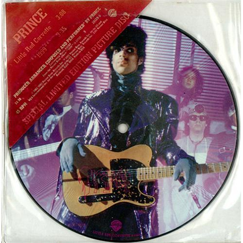 """Prince Little Red Corvette 7"""" vinyl picture disc 7 inch picture disc single US PRI7PLI03088"""