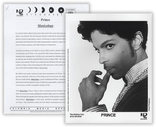 Prince Musicology US Promo media press pack (400049) PRESS PACK