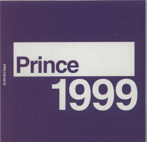 """Prince Nineteen Ninety Nine CD single (CD5 / 5"""") US PRIC5NI126650"""