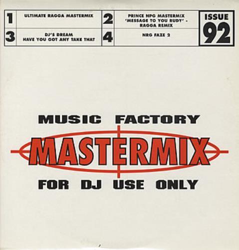 Prince NPG Mastermix - Music Factory Issue 92 UK Promo 2-LP