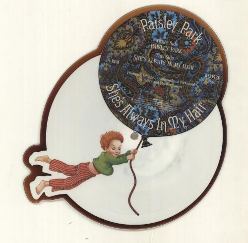 Prince Paisley Park - 'Tea-Stain' shaped picture disc (picture disc vinyl record) UK PRISHPA333850