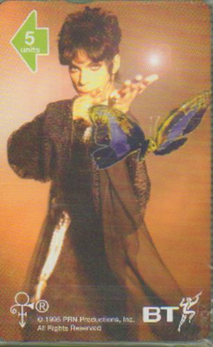 Prince Phonecard #1 Butterfly phone card UK PRIPCPH57780