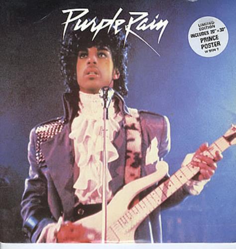 "Prince Purple Rain + Poster - EX 12"" vinyl single (12 inch record / Maxi-single) UK PRI12PU299927"