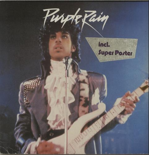 "Prince Purple Rain + Poster - EX 12"" vinyl single (12 inch record / Maxi-single) German PRI12PU638620"