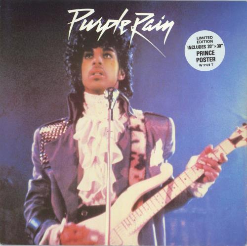 Prince Purple Rain Poster 12 Vinyl Single Inch Record Maxi