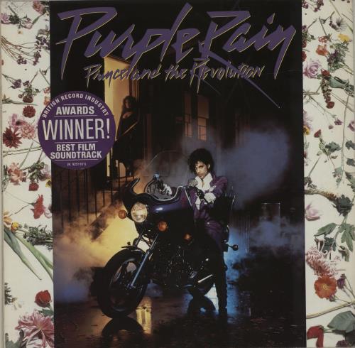 Prince Purple Rain - 'Awards' Stickered Sleeve vinyl LP album (LP record) German PRILPPU684677
