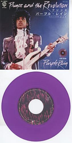 "Prince Purple Rain - Purple Vinyl 7"" vinyl single (7 inch record) Japanese PRI07PU89253"