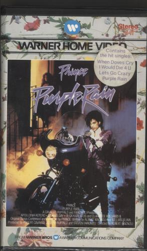 Prince Purple Rain video (VHS or PAL or NTSC) UK PRIVIPU294777
