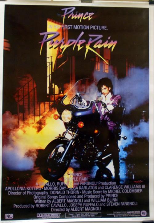 Prince Purple Rain Poster Italian PRIPOPU610831