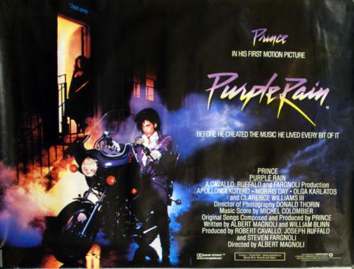 Prince Purple Rain Poster UK PRIPOPU610832