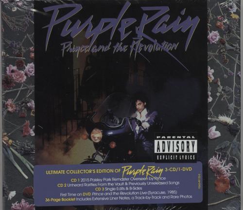 Prince Purple Rain 3-CD album set (Triple CD) UK PRI3CPU682623