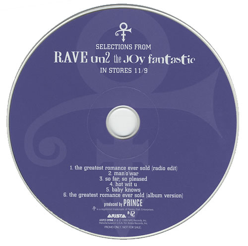 "Prince Rave Un2 The Joy Fantastic CD single (CD5 / 5"") US PRIC5RA151164"