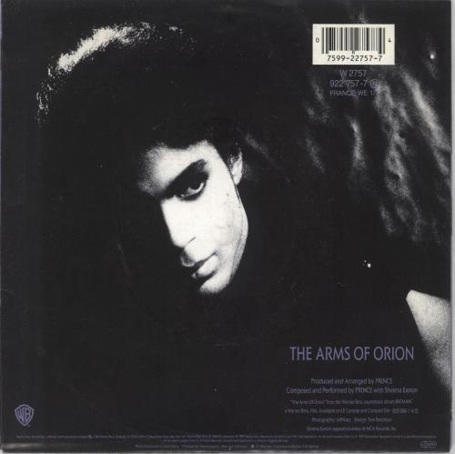 "Prince The Arms Of Orion 7"" vinyl single (7 inch record) UK PRI07TH160645"