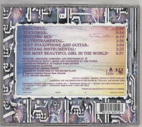 "Prince The Beautiful Experience CD single (CD5 / 5"") German PRIC5TH27149"