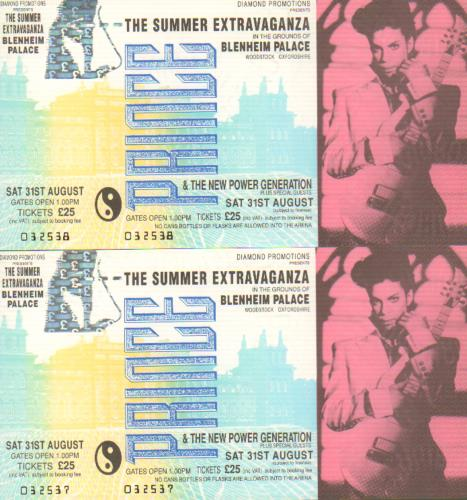 Prince The Summer Extravaganza - Cancelled Concert concert ticket UK PRITITH388089