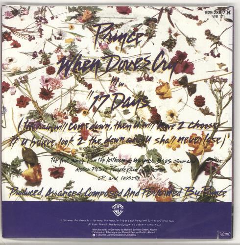 "Prince When Doves Cry - Nr.1 in USA 7"" vinyl single (7 inch record) German PRI07WH707070"