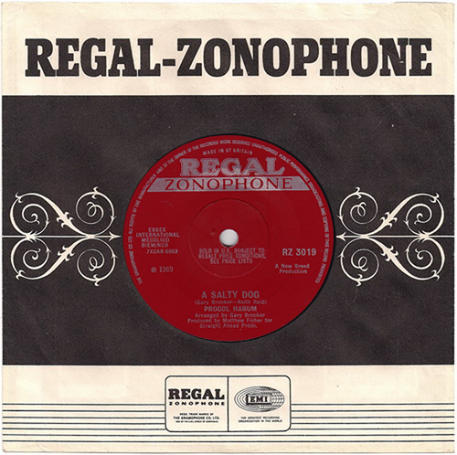 "Procol Harum A Salty Dog 7"" vinyl single (7 inch record) UK PRH07AS617019"