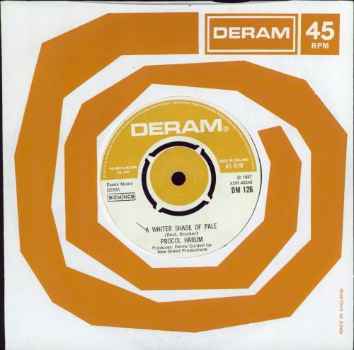 "Procol Harum A Whiter Shade Of Pale - 2nd 7"" vinyl single (7 inch record) UK PRH07AW549986"