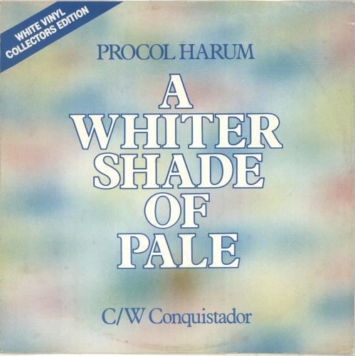 Procol Harum A Whiter Shade Of Pale - White Vinyl 12
