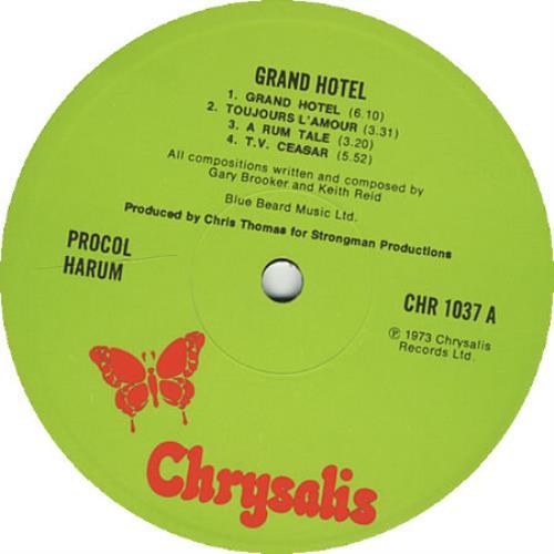 Procol Harum Grand Hotel - 1st + Booklet vinyl LP album (LP record) UK PRHLPGR119108
