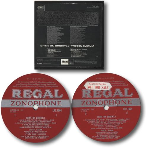 Procol Harum Shine On Brightly - Factory Sample vinyl LP album (LP record) UK PRHLPSH449575
