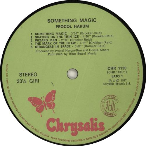 Procol Harum Something Magic vinyl LP album (LP record) Italian PRHLPSO726899