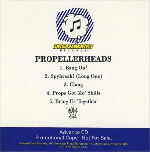 Propellerheads Bang On CD-R acetate US P-HCRBA113975
