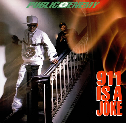 """Public Enemy 911 Is A Joke 12"""" vinyl single (12 inch record / Maxi-single) US PUB12IS461306"""