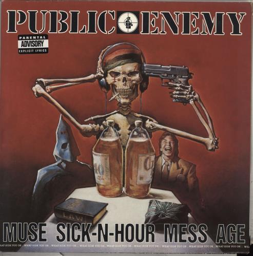 Public Enemy Muse Sick-N-Hour Mess Age 2-LP vinyl record set (Double Album) UK PUB2LMU709691