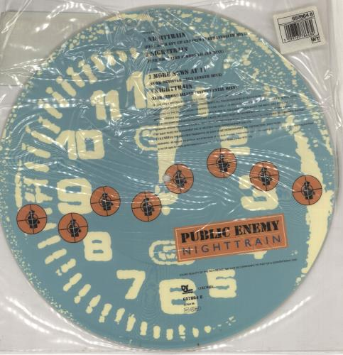 "Public Enemy Night Train 12"" vinyl picture disc 12inch picture disc record UK PUB2PNI44650"