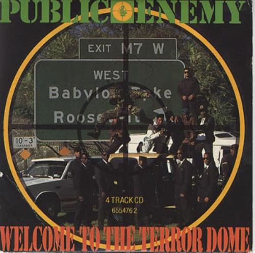 """Public Enemy Welcome To The Terrordome CD single (CD5 / 5"""") UK PUBC5WE55943"""