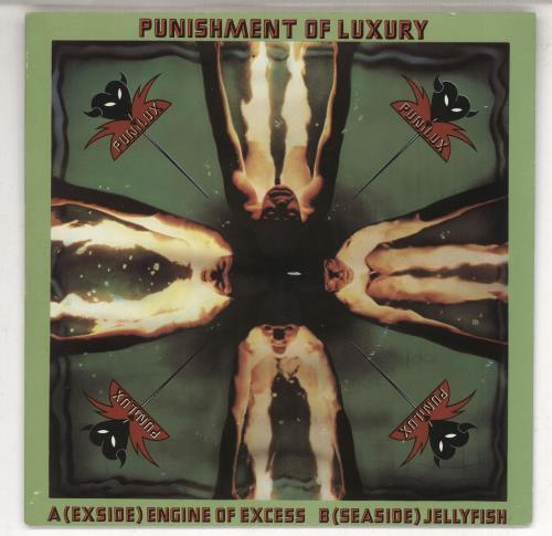 "Punishment Of Luxury Engine Of Excess 7"" vinyl single (7 inch record) UK P0L07EN448437"