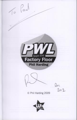 PWL PWL From The Factory Floor - Autographed book UK PWVBKPW652362