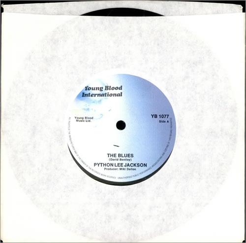 "Python Lee Jackson The Blues 7"" vinyl single (7 inch record) UK PLJ07TH493893"
