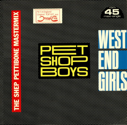 "Pet Shop Boys West End Girls - Shep Pettibone Remix 12"" vinyl single (12 inch record / Maxi-single) German PSB12WE04195"